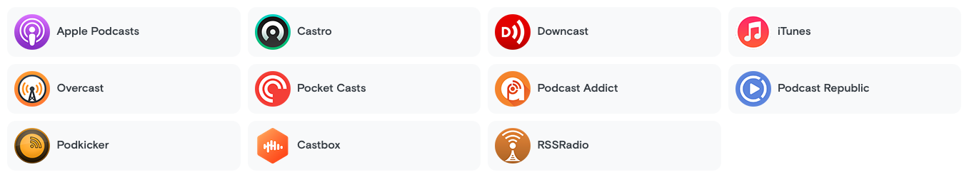 Compatible Podcast APPs